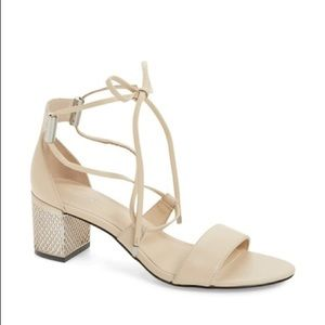 NWOT Calvin Klein Natania Lace-up Block Heel